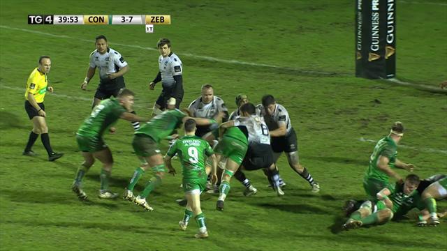 Zebre corsare a Galway contro il Connacht (11-19): gli highlights