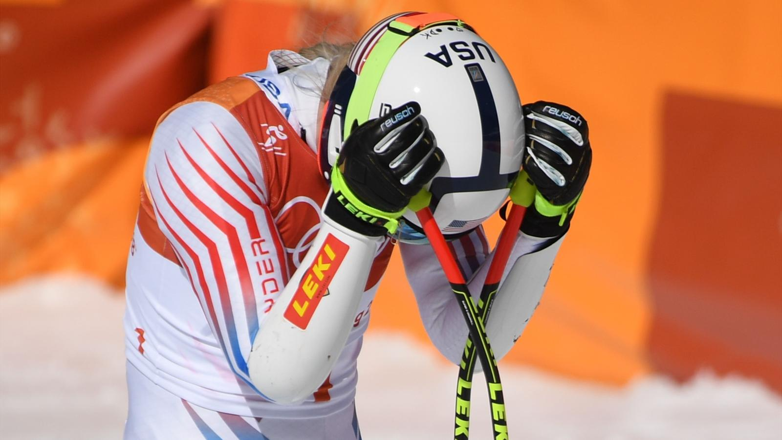 Watch Vonn blows shot at gold in final Olympic event, Shiffrin gets silver video