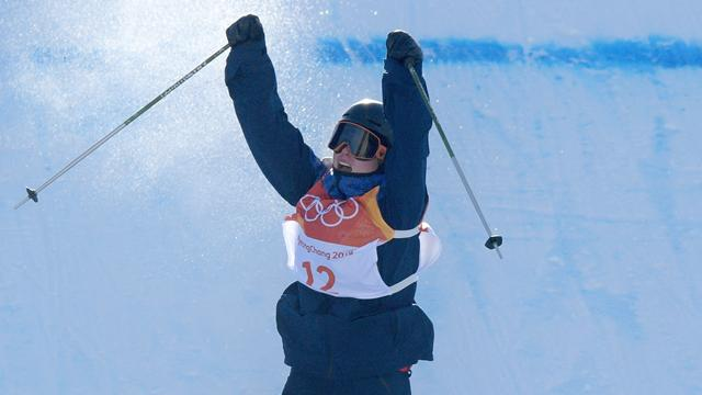 Swiss freestyle skier Hoefflin wins women's slopestyle at PyeongChang Olympics