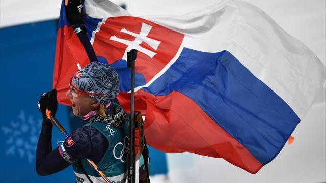 Kuzmina domina la prueba de 12.5 kilómetros con salida en masa