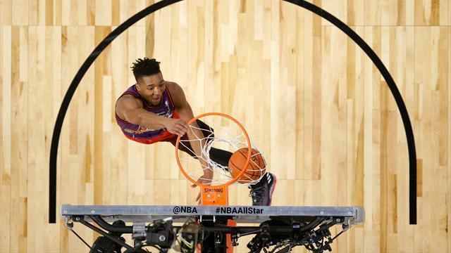 Booker a brillé à trois points, le concours de dunks pour Mitchell