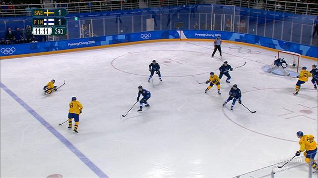 Hockey su ghiaccio: Svezia-Finlandia 3-1, gli highlights