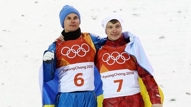Главный момент дня: русский и украинский фристайлисты обнялись на церемонии награждения
