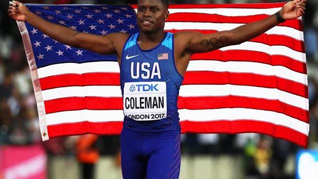 Christian Coleman no dejó dudas como el hombre más rápido del mundo
