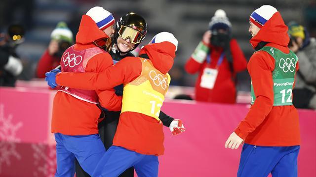 Den norske OL-dominansen fortsetter - utklassing i historisk hopptriumf: – Enormt deilig