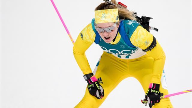Mona Brorsson the victor in Ladies' Biathlon