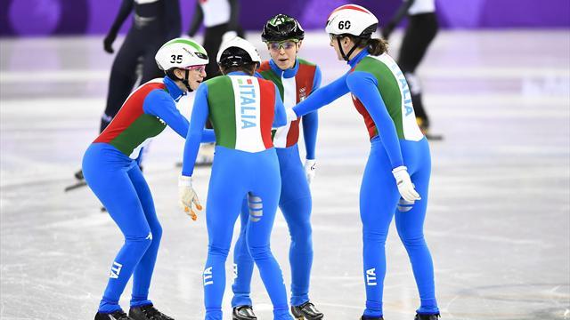 Italia, la staffetta 3000 metri è un argento da brividi! Oro alla Corea, squalificate Cina e Canada