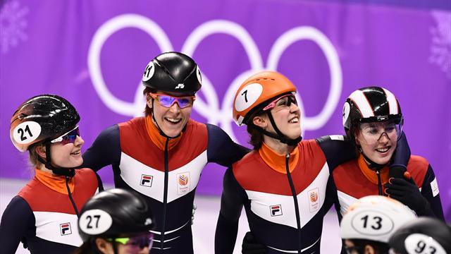 Голландия, прикатившая пятой, получит бронзу в женской эстафете на 3000 м