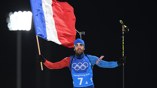 France wins biathlon mixed relay, Fourcade wins record fifth gold