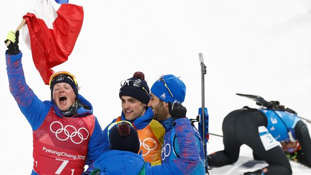 Martin Fourcade partira en troisième position du relais hommes — Biathlon (H)