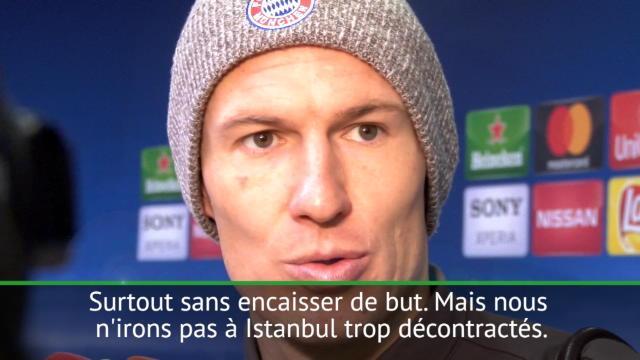 """8es - Robben : """"Nous devons être concentrés encore 90 minutes"""""""