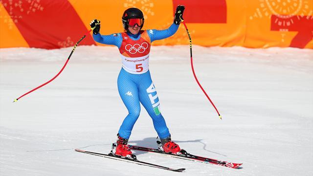 Sofia Goggia fantastica in discesa: la medaglia d'oro è sua