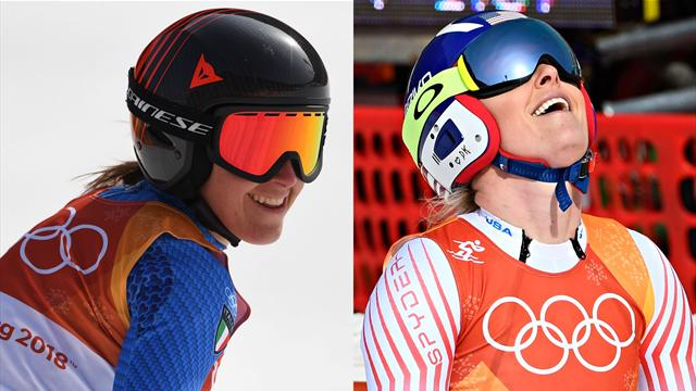 Goggia claims downhill gold as Vonn takes bronze