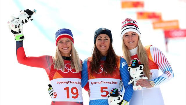 Годжия выиграла золото в скоростном спуске, Вонн – третья