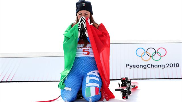 Sofia Goggia è meravigliosa: medaglia d'oro in discesa, battute Mowinckel e Lindsey Vonn