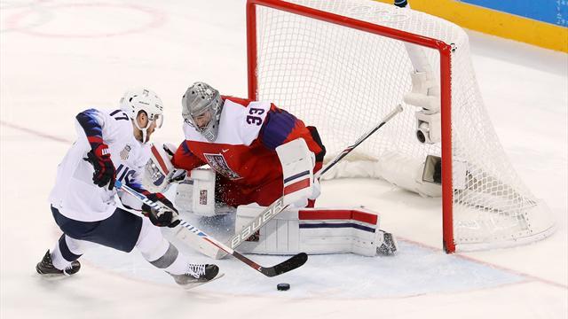 Hockey (H) : Les USA éliminés par les Tchèques en quart de finale