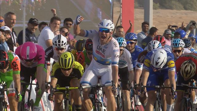 Watch Kristoff storm to sprint victory in opening stage of Abu Dhabi Tour