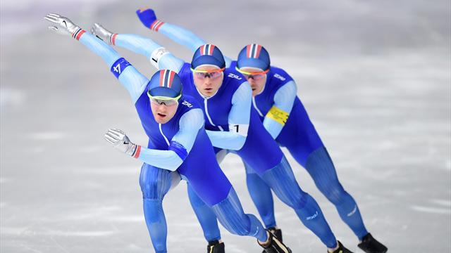 Норвегия выиграла золото в командном пасьюте, Южная Корея – с серебром