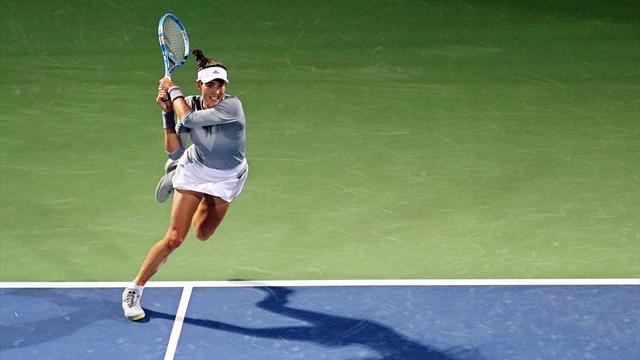 Garbiñe Muguruza cayó en semifinales y quedó eliminada del WTA de Dubai