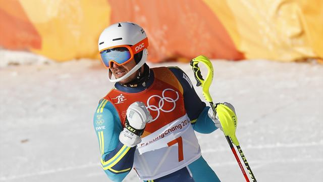 Slalomgiganten körde ur - André Myhrer i guldläge