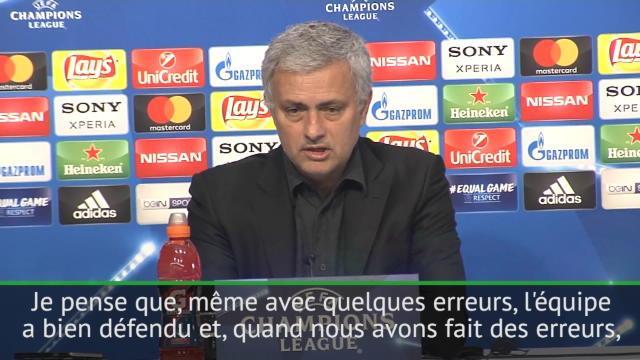 "Mourinho : ""L'équipe a bien défendu"""