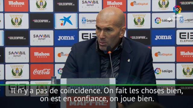 """Zidane : """"On est en confiance, on regarde devant nous"""""""