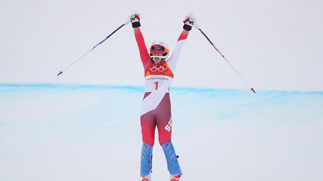 Гизин стала чемпионкой в комбинации, Вонн не закончила соревнования