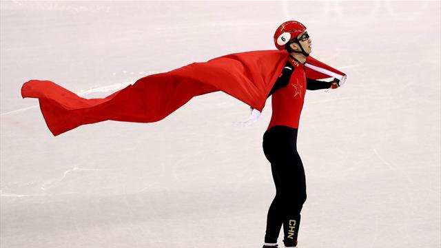 World record broken twice as Wu Dajing wins 500m short track gold