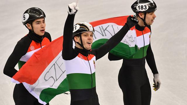 Ungarns Shorttracker holen historisches Gold