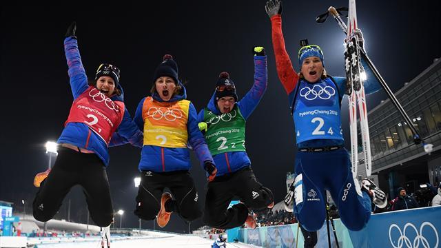 Le relais féminin en bronze, la France égale son record de Sotchi
