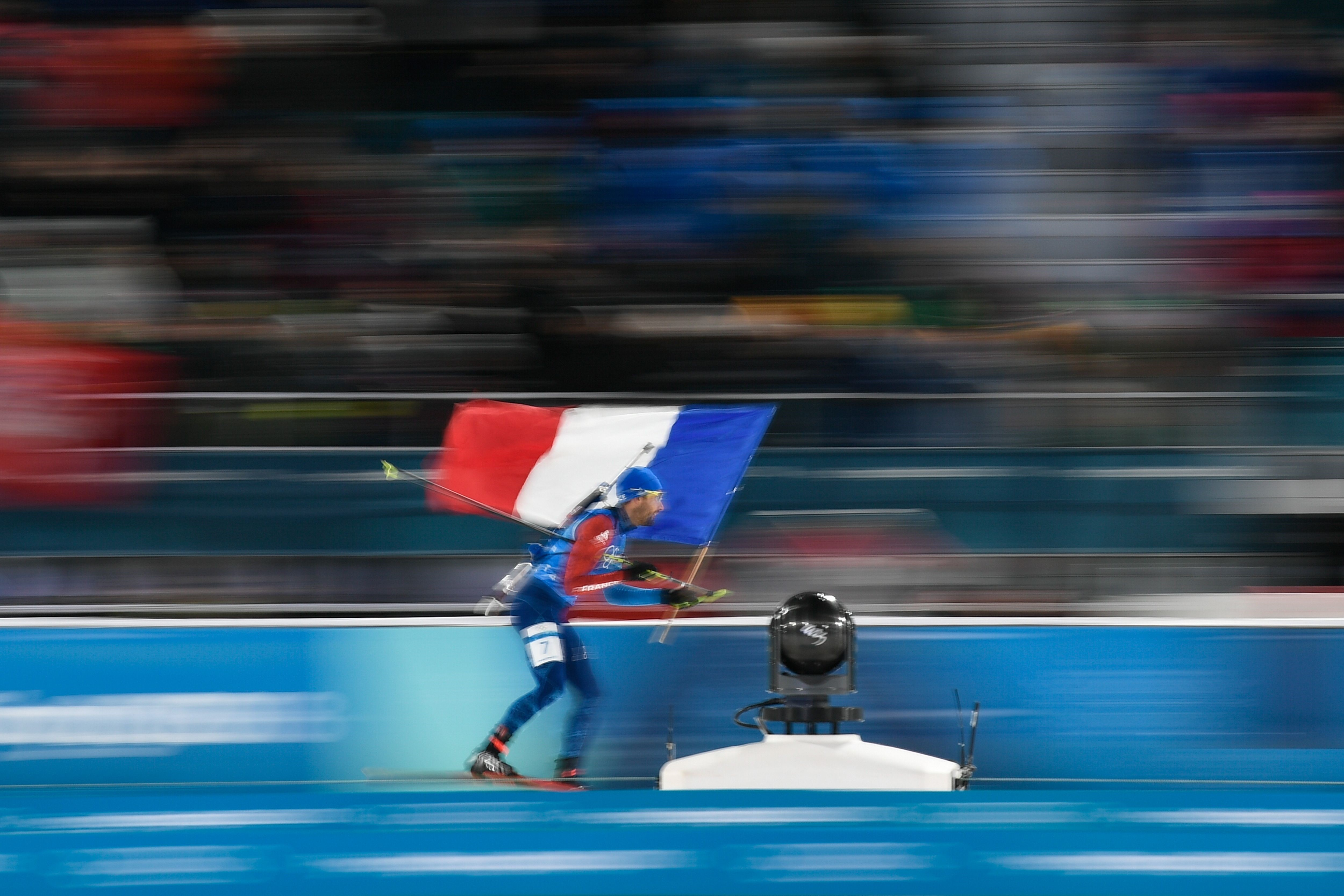 Martin Fourcade lors des JO de Pyeongchang