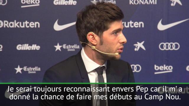 """Barça - Roberto : """"J'ai eu de la chance d'avoir Guardiola comme entraîneur"""""""