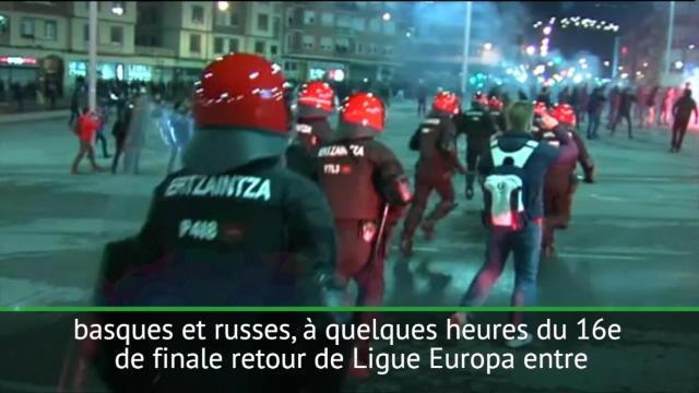 16es - Mort d'un policier avant Bilbao-Spartak Moscou