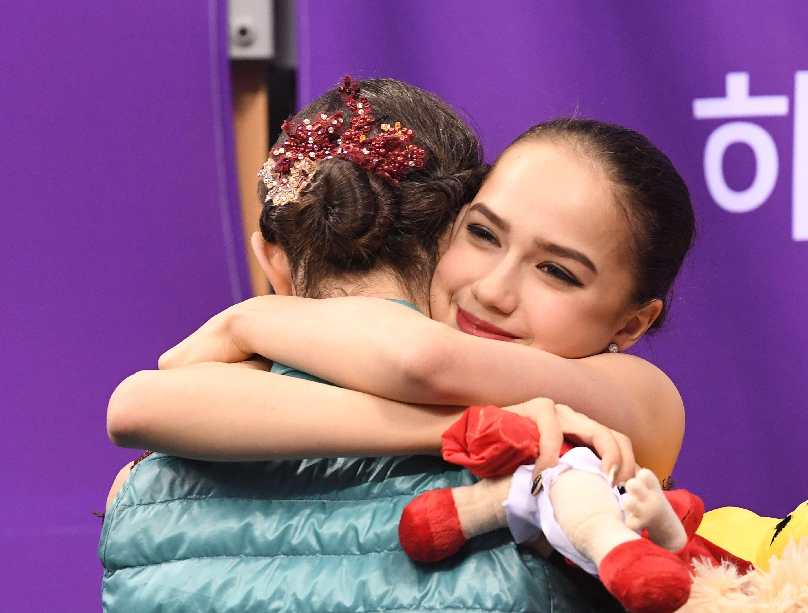 Алина Загитова, Евгения Медведева, Россия, Олимпиада-2018, Пхёнчхан