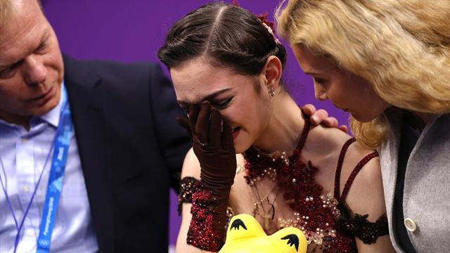 El desconsolado llanto de Evgenia Medvedeva en el duelo millennial y otras noticias de los JJOO