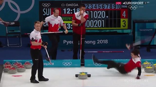 El absurdo tropiezo y la dura caída en las semifinales del Suiza-Canadá