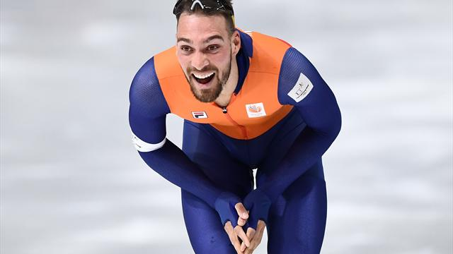 Netherlands' Nuis claims Olympic speed skating double