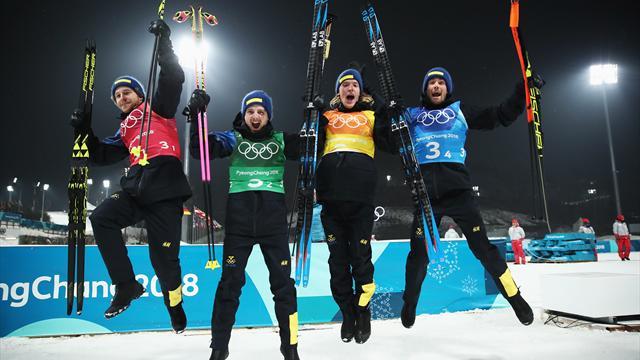 La Svezia vince la sfida con la Norvegia e conquista la staffetta, lontani gli azzurri