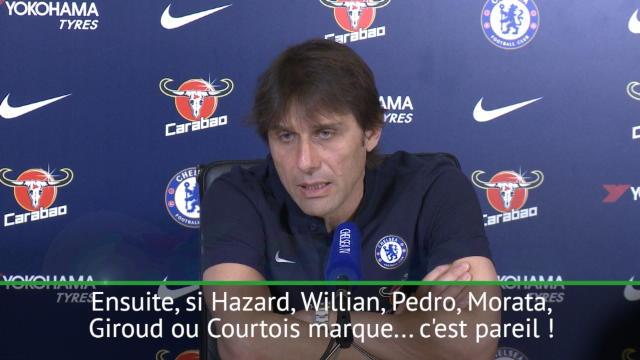 """28e j. - Conte : """"Peut importe si c'est Morata, Giroud ou Courtois qui marque"""""""