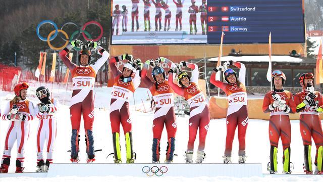 Alp disiplini takım finalinde İsviçre'ye altın, Norveç'e rekor geldi