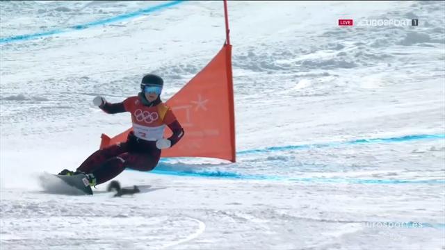 El susto del día lo protagoniza una ardilla en el paralelo de snowboard