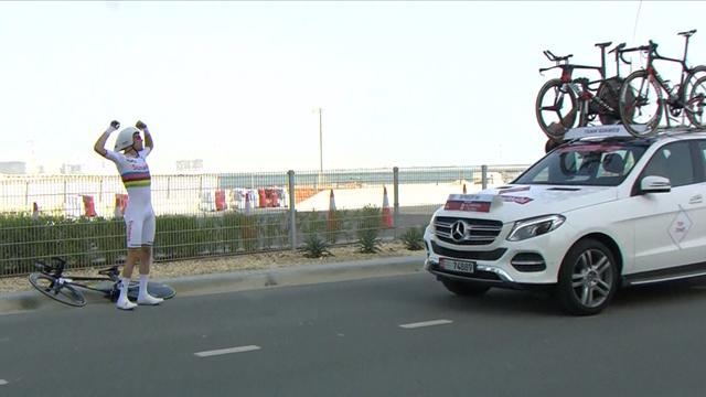 Dumoulin rages after bike malfunction ruins time trial