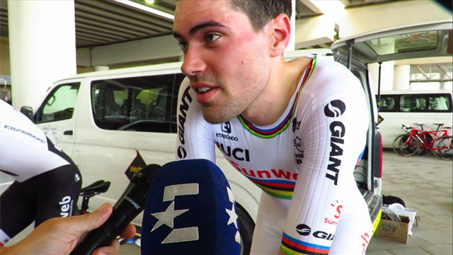 Dumoulin disappointed not to do the rainbow jersey justice