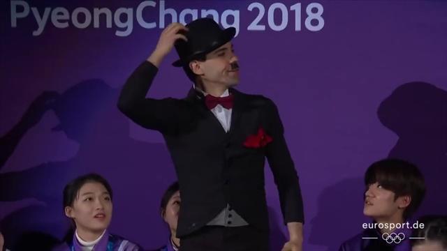 Cappellini-Lanotte magnifici al galà con Charlie Chaplin