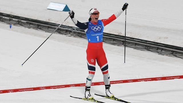 Бьорген победила в марафоне и взяла 15-ю медаль Игр