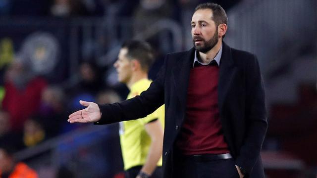 """Machín, tras ser goleado por el Barça: """"Prefiero caer siendo valiente a perder igual siendo rácano"""""""