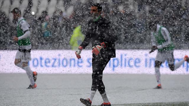 Juventus-Atalanta rinviata per neve e maltempo: non si gioca a Torino