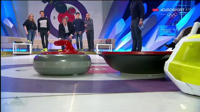 Hannawald, Greis und Schmitt: Wer gewinnt das letzte Promi-Curling?