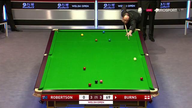 Der entscheidende Moment: Burns siegt gegen Robertson
