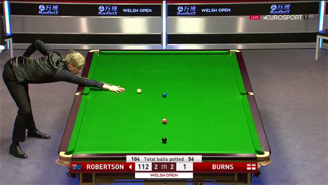 Abgeräumt: Robertson mit dem Century gegen Burns